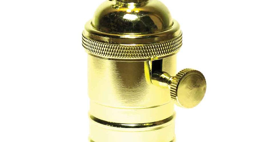RB2-G (สีgold)ทองเหลืองแท้ สวิทซ์แบบหมุน