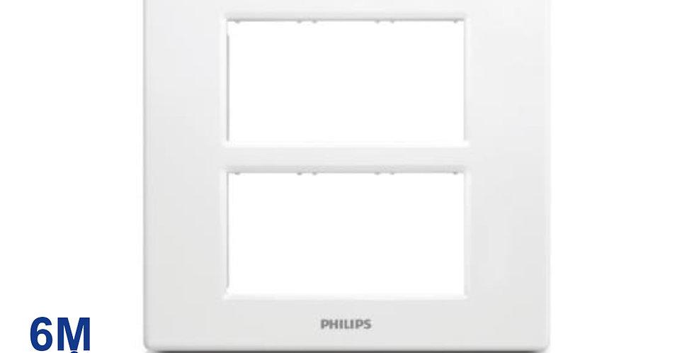 PHILIPS หน้ากาก สวิทช์ ปลั๊ก ฝา 6 ช่อง ฟิลิปส์ รุ่นลีฟ LEAFSTYLE 6M COVER