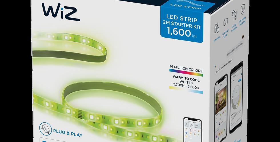 WiZ by Philips ชุดเริ่มต้นไฟเส้น LED อัจฉริยะ ปรับแสงขาวและสี 16 ล้านสี 2 เมตร