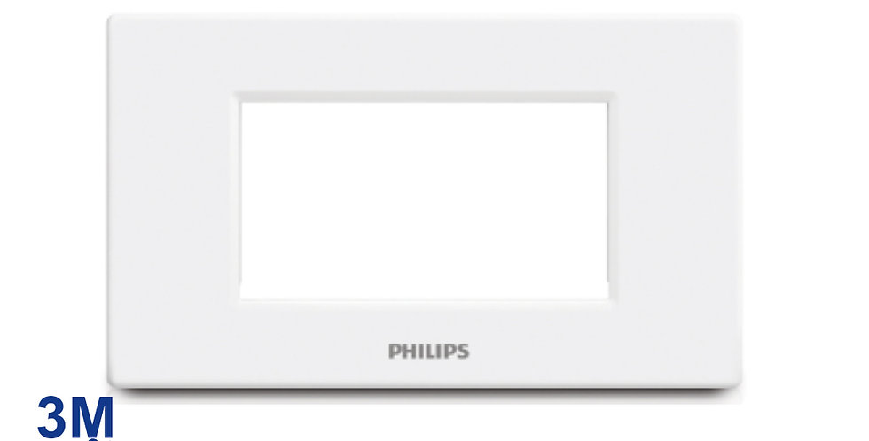 PHILIPS หน้ากาก สวิตช์ ปลั๊ก ฝา 3 ช่อง ฟิลิปส์ รุ่นลีฟ LEAFSTYLE 3M COVER