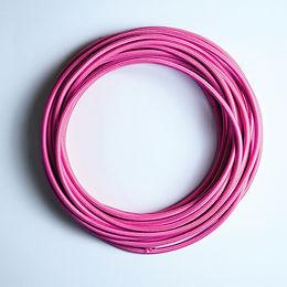 2C-PINK(สายไฟวินเทจบุผ้าสีชมพู)