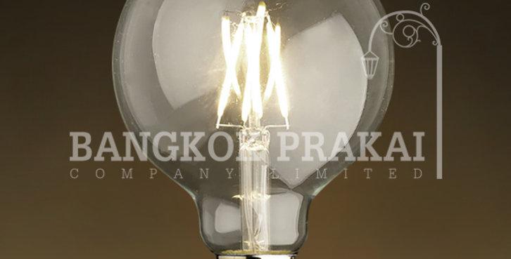 หลอดไฟวินเทจ เอดิสัน LED vintage แก้วใส G95-LS2-755-4w ขั้ว E27