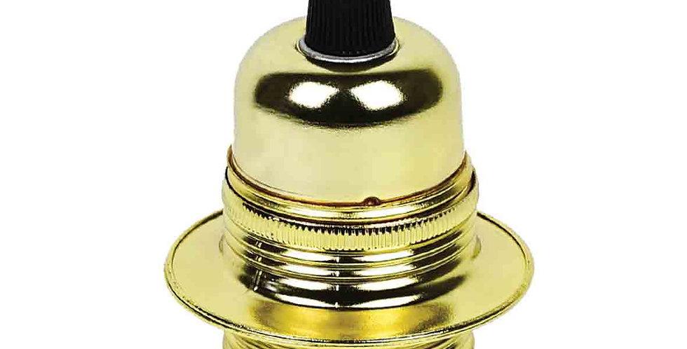 JK1-G  (สีGold)ขั้วตกแต่งสีทอง ไม่มีสวิทซ์