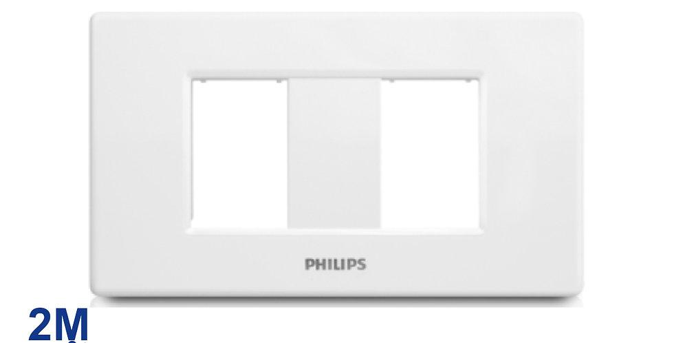 PHILIPS หน้ากาก สวิตช์ ปลั๊ก ฝา 2 ช่องแยก ฟิลิปส์ รุ่นลีฟ LEAFSTYLE 2M COVER