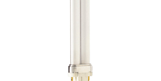 หลอดไฟฟลูออเรสเซนต์ Philips PL-C 7w 2P รุ่น หลอดตะเกียบ ขั้ว G23