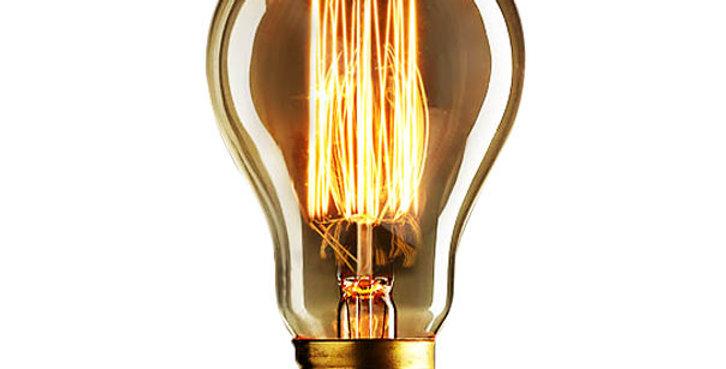 หลอดไฟไส้เอดิสัน edison bulb A60-CSC 40w ขั้วไฟ e27 สไตล์วินเทจ