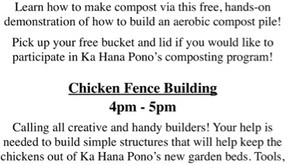 Free Composting Workshop & Chicken Fence Building