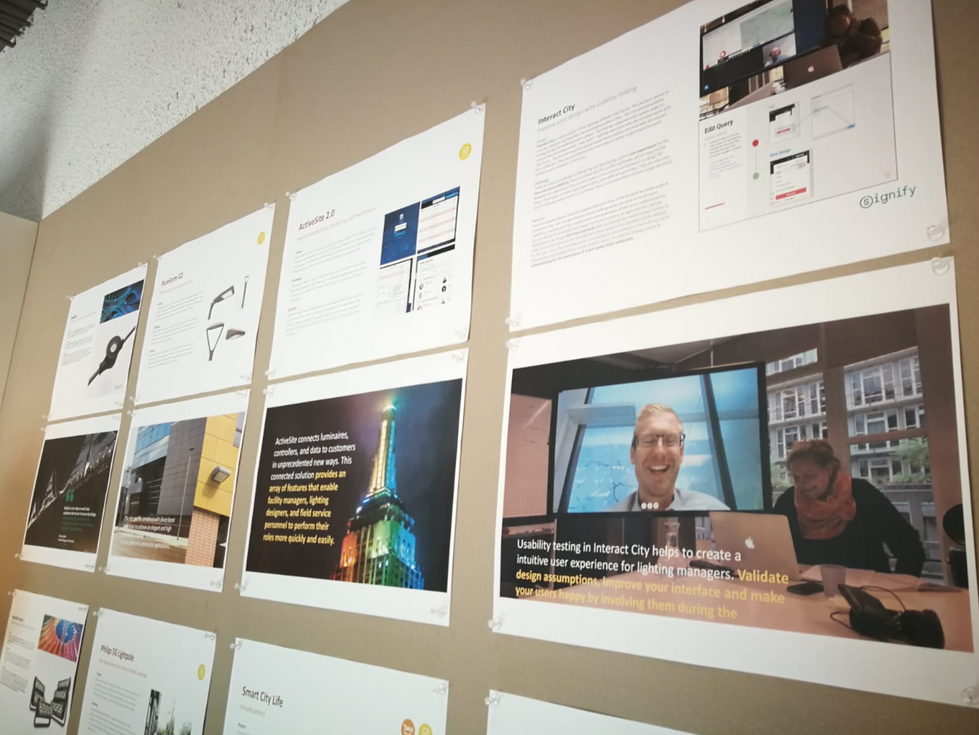 Usability testing of the project became a sucess story to inspire colleagues witthin philips lighting