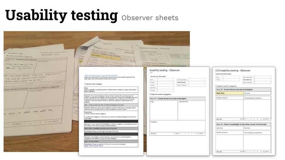observer sheets