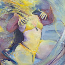 "40""x 30"", Acrylic and oil on canvas, 2019"