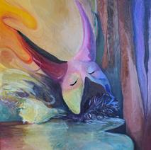 """Carnal Dreams 36""""x 24"""", 2017-2019, Oil on canvas, $700"""