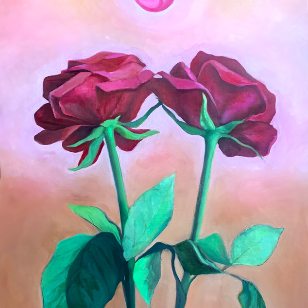 "Blooming Together ""36 x 24"", Oil on Canvas, 2019, NFS"