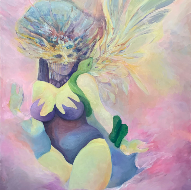 "EVE (The Holy Grail) 48""x50"", Oil on Canvas, 2019 Available"
