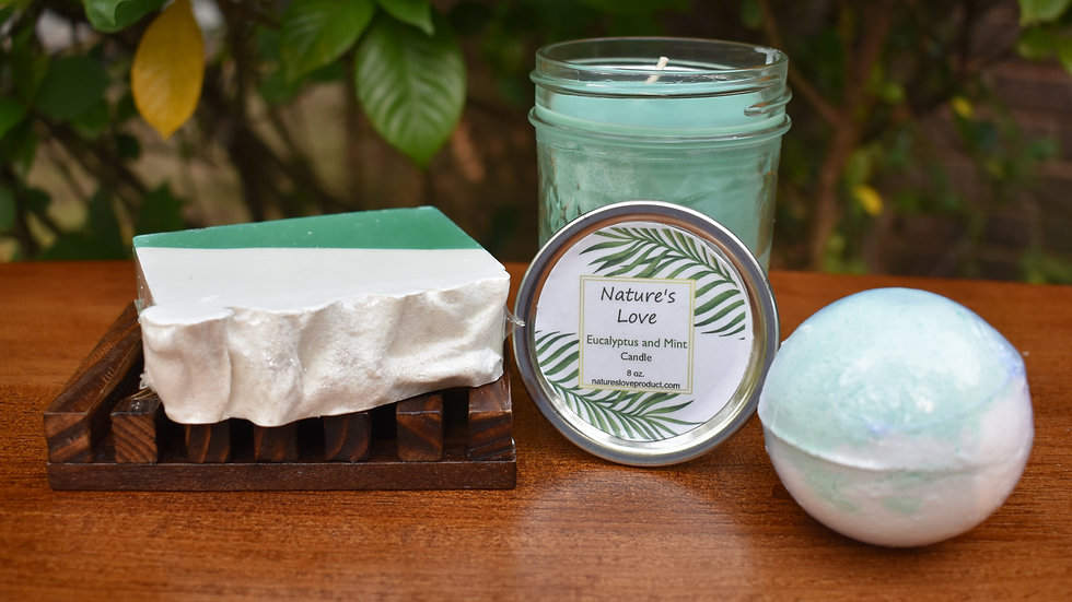Eucalyptus and Mint Gift Set