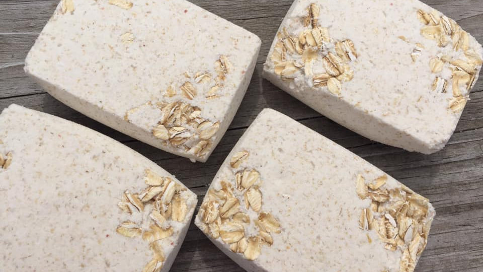 Soothing Oatmeal and Milk Bath Bombs