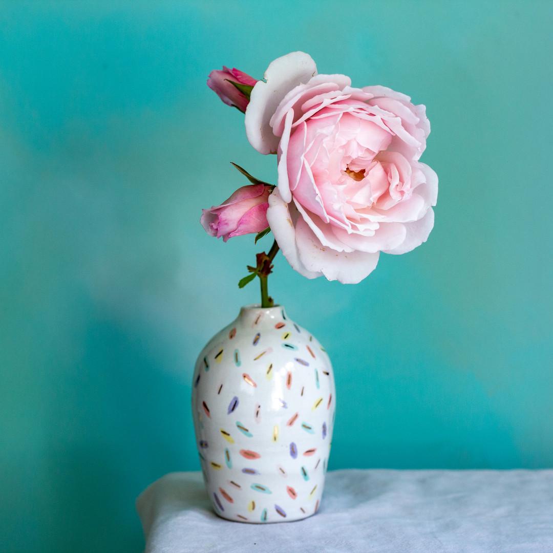 sprinkles bud vase