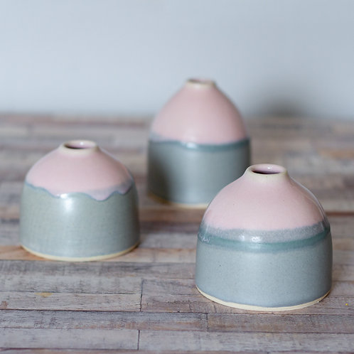 Pink and Grey Vases- Less Drippy