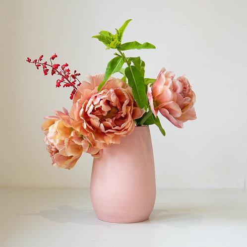 Pale Pink Raw Porcelain Vase 16cm