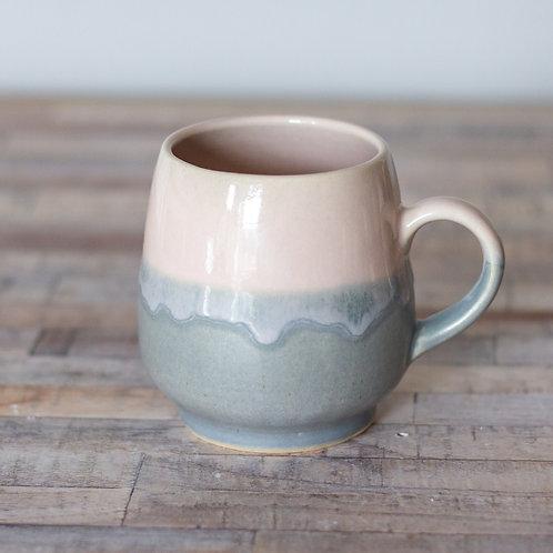Drippy Pink and Grey Mug 12