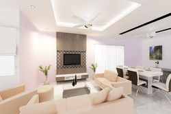 Bright and Modern Terrace Design - Living Room