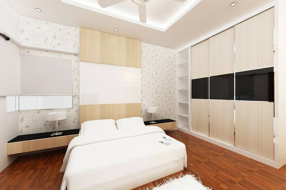 Bright and Modern Terrace Design - Master Bedroom i