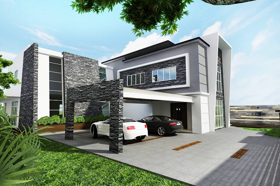 Modern Bungalow Design - Car Porch