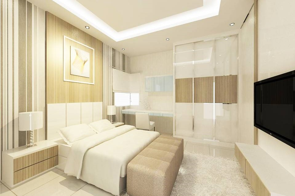 Bright and Modern Terrace Design - Bedroom 2