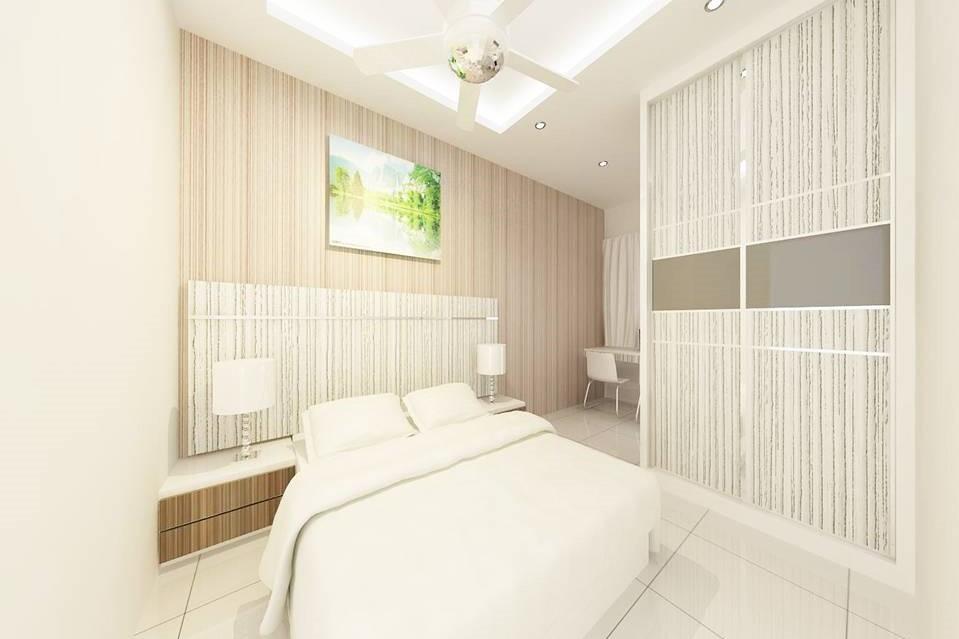 Bright and Modern Terrace Design - Bedroom 4Tan(Bedroom 3)