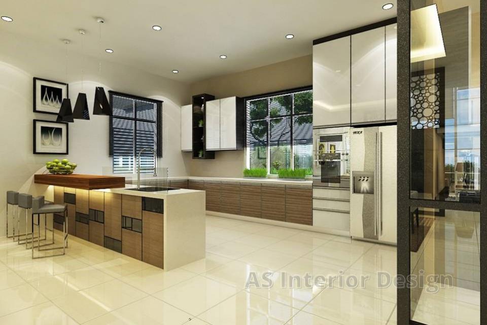 Modern Bungalow Design - Dry Kitchen