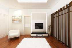 Bright and Modern Terrace Design - Master Bedroom ii