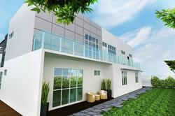 Modern Bungalow Design - Rear Balcony