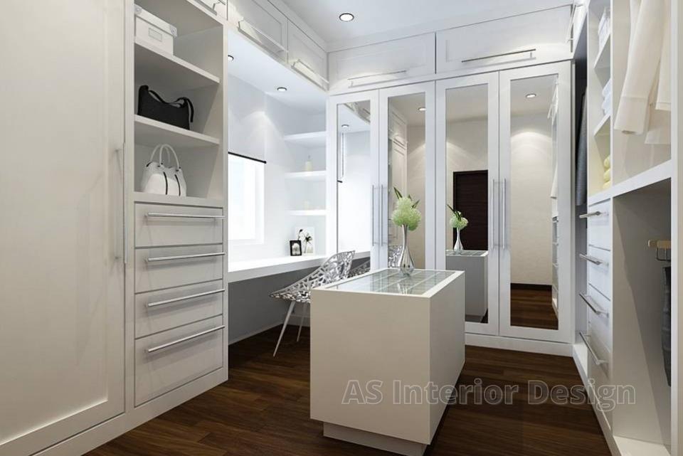 Modern Bungalow Design - Daughter's Walk-in Closet