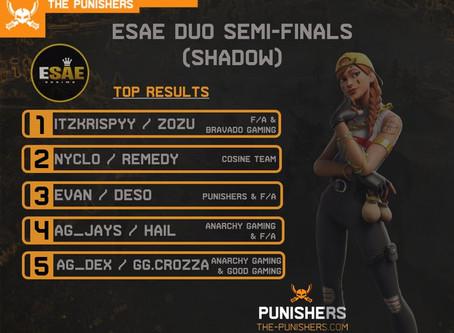 ESAE Semi Finals (Shadow)  - 15 May 2020