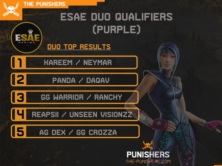 ESAE Duo Qualifiers (Purple) - 14 May 2020