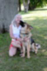 Vicki with GSD Iggy