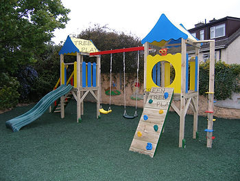 Green Tree Play display area in Dublin, Ireland. Visit for quality swings, slides, playhouses, tree-houses. Also available in Cork, Limerick, Rosscommon and all Ireland