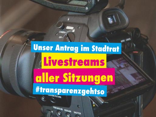 Antrag auf Livestreams