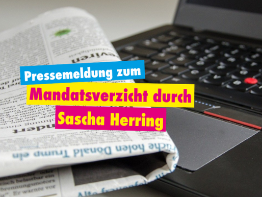 Pressemeldung zum Rückzug von Sascha Herring