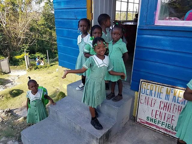 After a week off due to construction, kids are back and excited for their new school! #onelove