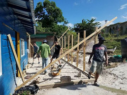 Building the Gertie McKenzie school in Sheffield Jamaica is rolling! New school soon come! One Love