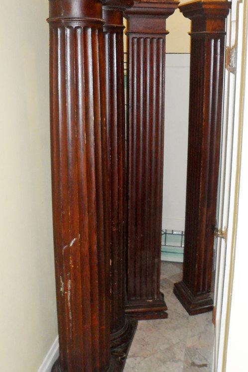 Set Of 4 Entry Oak Columns