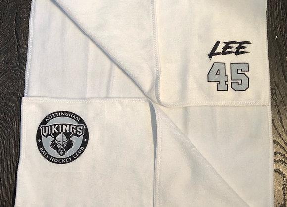 Vikings Gym / Game Towel (personalised with name & number)