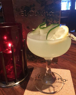 We will be featuring an El Divino original with gin, locally sourced cucumbers, basil, lemon and an