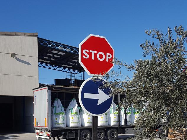 poste tráfico stop señal tráfico stop
