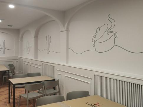 vinilo pared vinilo restaurante decoraci