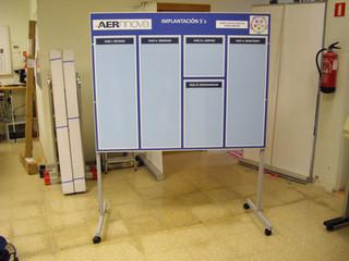 panel 5 S cartel kpi Cartel prevención