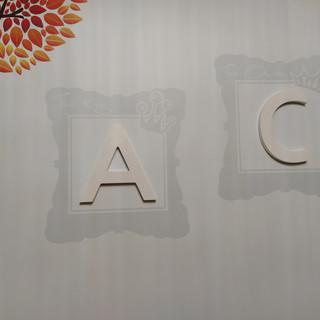 letras pared