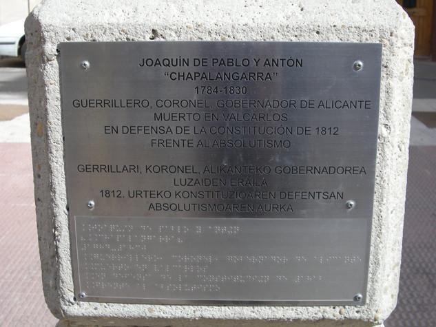 placa conmemorativa placa ayuntamiento