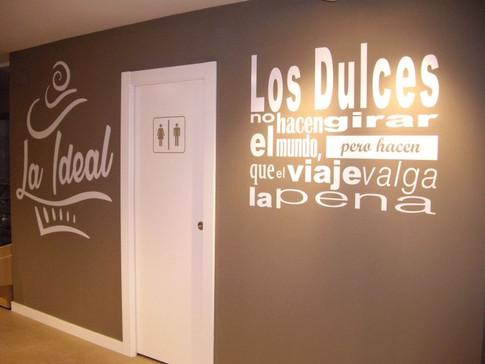decoración interior local vinilo pared f