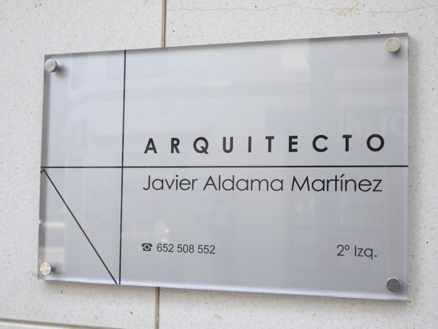 placa arquitecto placa pared cartel